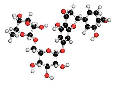 Hesperidin Citrus Flavanone Molecule Print by Molekuul