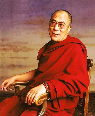 Tibetan Buddhism Photograph - H.h. Dalai Lama by Jan Faul