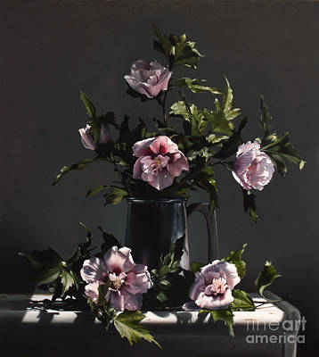 Realist Painting - Hibiscus by Larry Preston