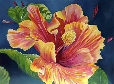 Boardroom Painting - Hibiscus by Susan Robinson