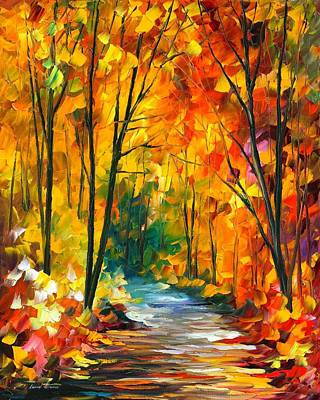 Oil Landscape Painting - Hidden Emotions by Leonid Afremov