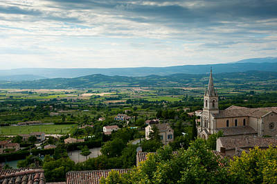 Rooftop Photograph - High Angle View Of A Church, Bonnieux by Panoramic Images