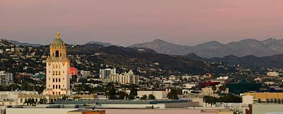 Beverly Hills Photograph - High Angle View Of A City, Beverly by Panoramic Images