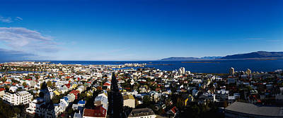 Rooftop Photograph - High Angle View Of A City, Reykjavik by Panoramic Images