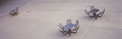 High Angle View Of Tables And Chairs Print by Panoramic Images