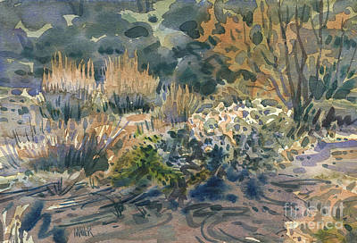 Sagebrush Painting - High Desert Flora by Donald Maier