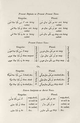 Future Photograph - Hindustani Grammar by Middle Temple Library
