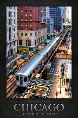 Blurred Painting - Historic Chicago El Train Poster by Christopher Arndt