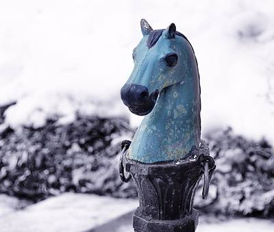 Winter Photograph - Hitching Post by JAMART Photography