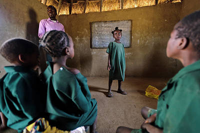 African Huts Photograph - Hiv Aids Education by Matthew Oldfield