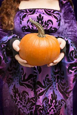 Holding Pumpkin Print by Amanda Elwell
