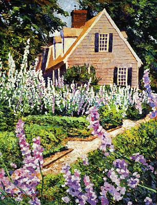 Hollyhock House Print by David Lloyd Glover