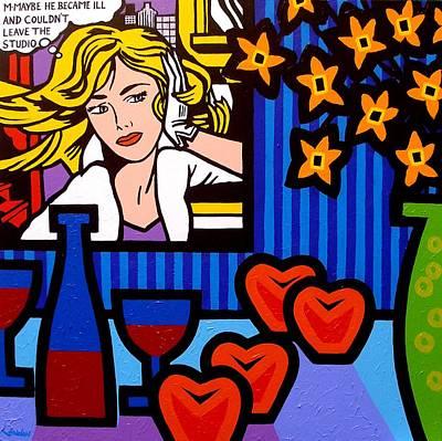 Homage To Lichtenstein Print by John  Nolan