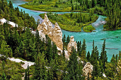 Hoodoos By Bow River In Banff Np-alberta Original by Ruth Hager