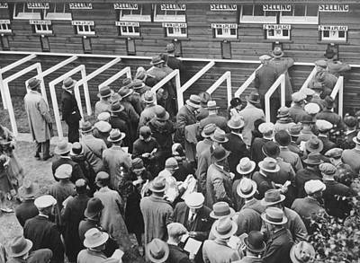 Horse Race Betting Print by Underwood Archives