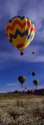 Steamboat Photograph - Hot Air Balloons Rising, Hot Air by Panoramic Images