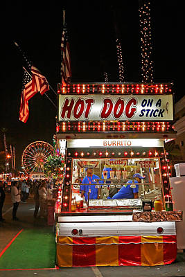 Hot Dog On A Stick Print by Peter Tellone