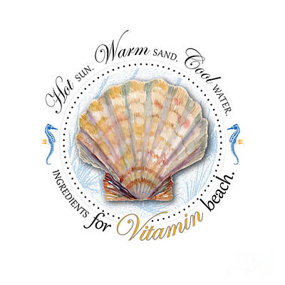 Hot Sun. Warm Sand. Cool Water. Ingredients For Vitamin Beach. Print by Amy Kirkpatrick
