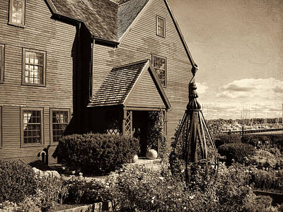 Historic Site Photograph - House Of The Seven Gables by Lourry Legarde
