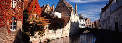 Belgium Photograph - Houses Along A Channel, Bruges, West by Panoramic Images