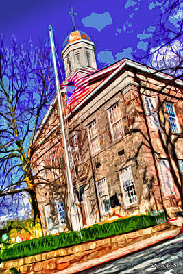 Ellicott Digital Art - Howard County Courthouse by Stephen Younts