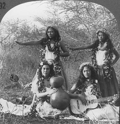 Hula Dancers, C1905 Print by Granger