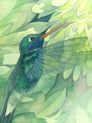 Hummingbird Painting - Hummingbird And Chrysanthemum by Robert Hooper