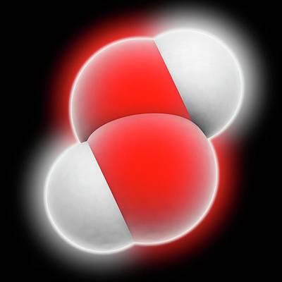 Hydrogen Peroxide Molecule Print by Laguna Design