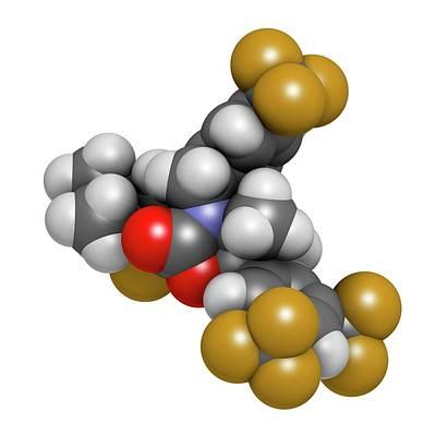 Hypercholesterolemia Drug Molecule Print by Molekuul