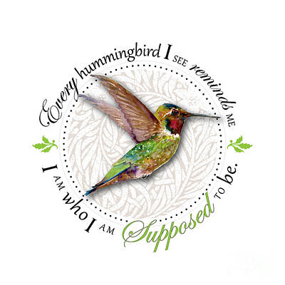 I Am Who I Am Supposed To Be Print by Amy Kirkpatrick