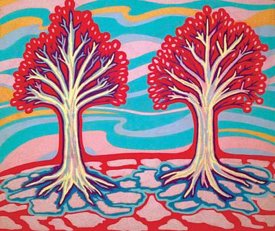 Ice Cream Trees Print by Mike Manzi