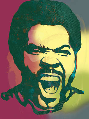 Ice Cube - Stylised Drawing Art Poster Print by Kim Wang