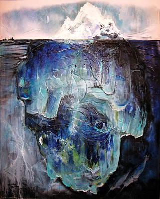 Subconscious Painting - Iceberg by Tanya Kimberly Orme