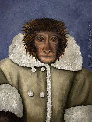 Ling Painting - Ikea Monkey by Leah Saulnier The Painting Maniac