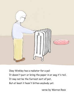 Radiator Drawing - Ikey Winkley by Alan McCormick