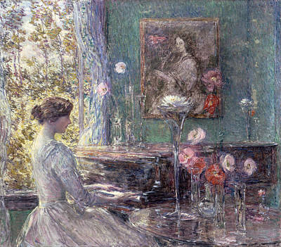 Childe Hassam Painting - Improvisation by Childe Hassam