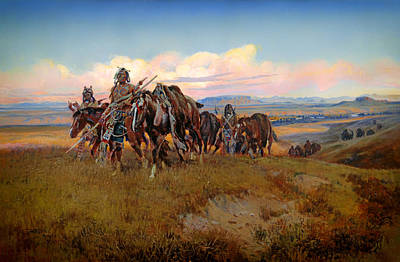 Prairie Sky Painting - In The Enemy's Country by Mountain Dreams