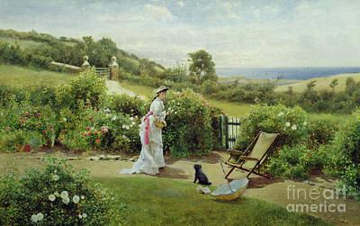 In The Garden Print by Thomas James Lloyd