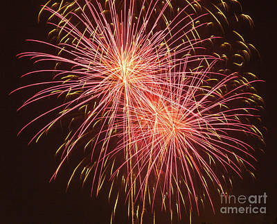 Independence Day Fireworks Print by Philip Pound