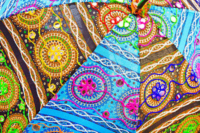 Fabric Quilt Photograph - Indian Cloth by Tom Gowanlock