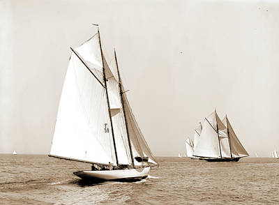 Indra, Indra Schooner, Yachts Print by Litz Collection