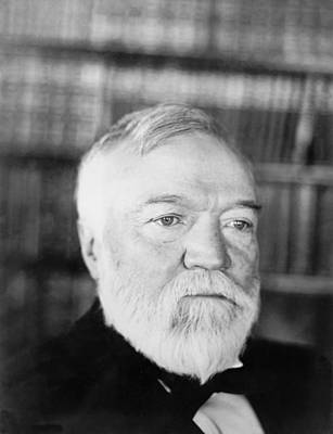 Industrialist Andrew Carnegie Print by Underwood Archives