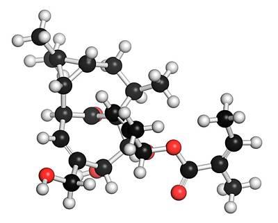 3-dimensional Photograph - Ingenol Mebutate Actinic Keratosis Drug by Molekuul