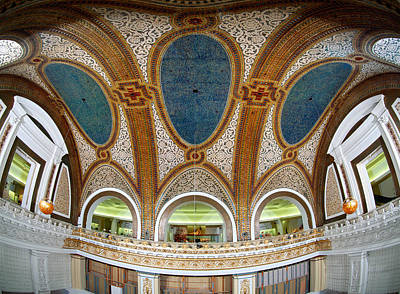 Mosaic Photograph - Interior Detail Of Tiffany Dome by Panoramic Images