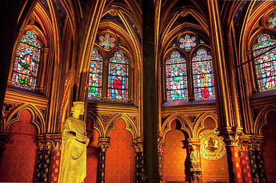 Christian Sacred Photograph - Interior Of The Lower Chapel, Sainte by Brian Jannsen