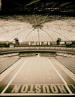 Interior Of The Old Astrodome Print by Mountain Dreams