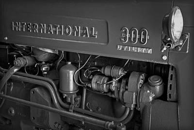 International 300 Utility Harvester Print by Susan Candelario