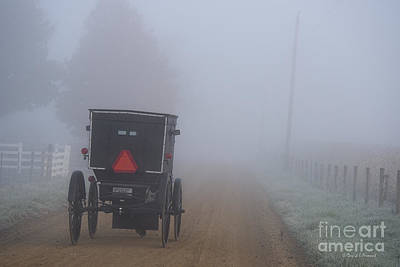 Amish Photograph - Into The Fog by David Arment