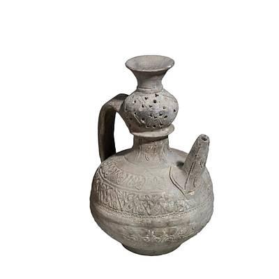 Islamic Terra-cotta Ewer Print by Photostock-israel