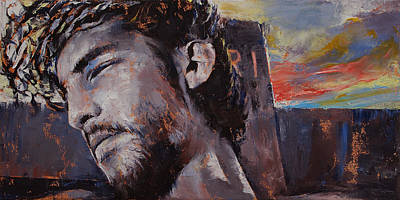 Crucifix Painting - It Is Finished by Michael Creese